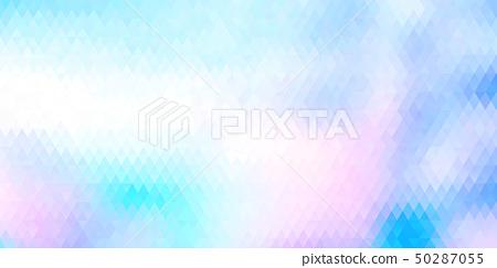 鲜艳细致的抽象多彩几何造型特写纹理背景(无缝接图,高解析度 2D CG 渲染∕着色插图) 50287055