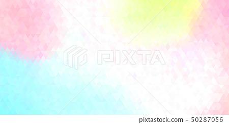 鲜艳细致的抽象多彩几何造型特写纹理背景(无缝接图,高解析度 2D CG 渲染∕着色插图) 50287056