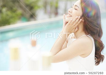 여성 여자 여행 리조트 50287260