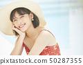 여성 여자 여행 리조트 50287355
