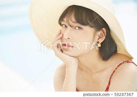 여성 여자 여행 리조트 50287367