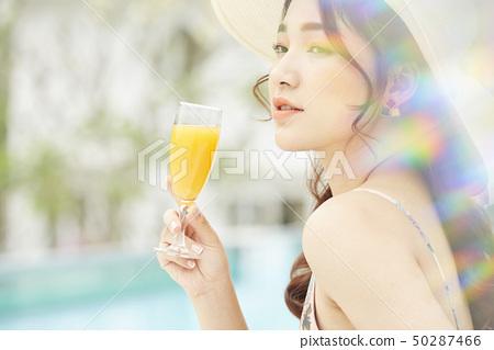 여성 여자 여행 리조트 50287466