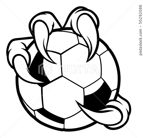 Eagle Bird Monster Claw Talons Holding Soccer Ball 50292086