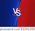 Versus Duel Headline Background with Blue and Red Sides. Vector 50292299