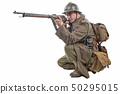 french soldier 1940 isolated on the white 50295015