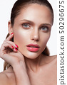 Beauty portrait of model with natural make-up 50296675