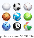Realistic sports balls vector set 50296694