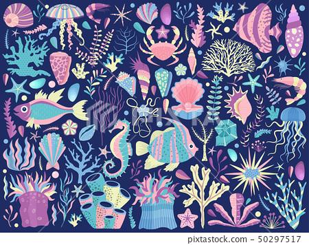 Tropical Sea Reef Underwater Life 50297517