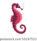 Sea Horse Fish Cartoon Icon 50297523