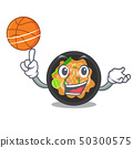 With basketball pat thai isolated in the cartoon 50300575
