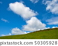 Typical green Irish country side with blue sky 50305928