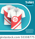 Mens t-shirt vector mockup advertising concept 50308775