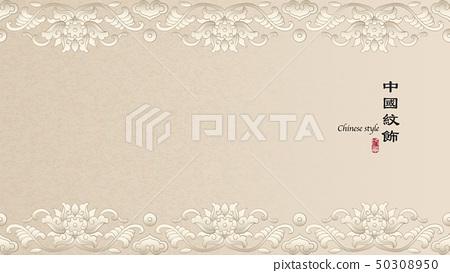 Elegant retro Chinese style background template 50308950