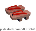 Geta traditional Japanese shoes. Vector illustration on white background. 50309941