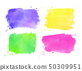 Watercolor brushstrokes banners collection 50309951