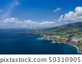 Aerial view of Atlantic coast at Vila Franca do 50310905