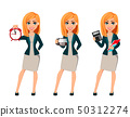 Cartoon character businesswoman with blonde hair 50312274