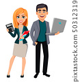 Modern business man and business woman 50312319