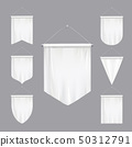 White Pennants Realistic Set  50312791