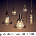 Vintage Light Bulbs Realistic Set 50312883