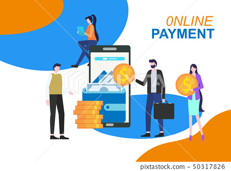 Online Payment Mobile Phone App Electronic Wallet 50317826