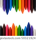 Multicolored pencils with free space for text. 50321924