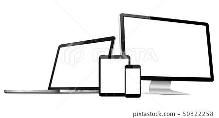 Responsive web design modern digital devices set 50322258