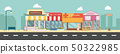 City street and store buildings vector 50322985