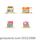 Business store front set flat design vector 50322986