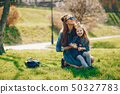 stylish mother with daughter 50327783