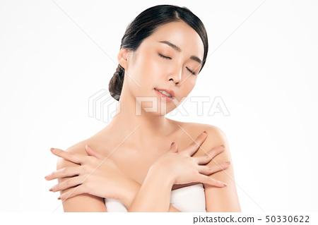 Beautiful Young asian Woman with Clean Fresh Skin 50330622