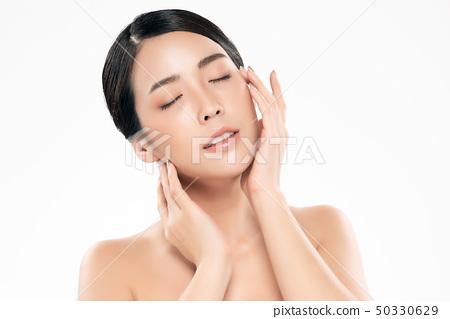 Beautiful Young asian Woman with Clean Fresh Skin 50330629