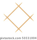 Wooden toothpicks on white background  50331004