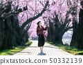 开花 樱花 女人 50332139
