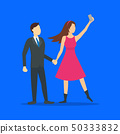 Cartoon Characters People Takes Selfie Concept. Vector 50333832