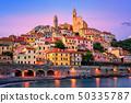 Cervo on mediterranean coast of Liguria, Italy 50335787