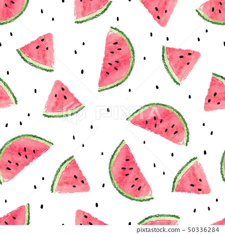 Seamless watermelons pattern. 50336284