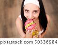 อาหาร,โดนัท,ผู้หญิง 50336984