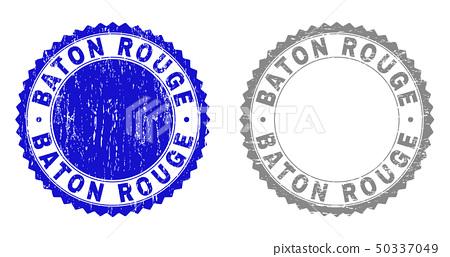 Textured Baton Rouge Scratched Stamp Seals Stock Illustration 50337049 Pixta