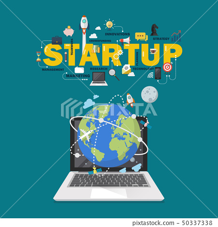 Global network connection startup concept 50337338