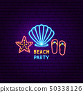 Beach Party Neon Label 50338126