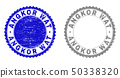 Textured ANGKOR WAT Grunge Stamps 50338320