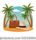 海滩 手掌 袋 50339660