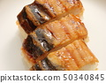 Grilled conger eel and sushi. 50340845