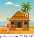 家伙 海滩 夏天 50341397