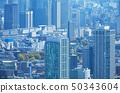 東京風光2019年品川站和高層建築 50343604