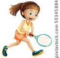 A female tennis athlete 50345884