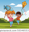 Cute kids having fun 50346553