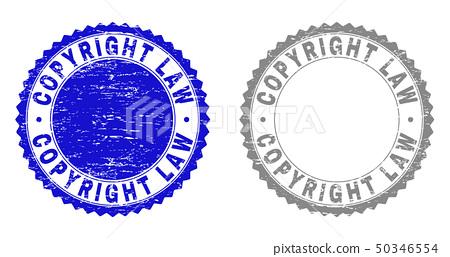 Grunge COPYRIGHT LAW Textured Watermarks 50346554