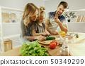 kitchen, family, child 50349299